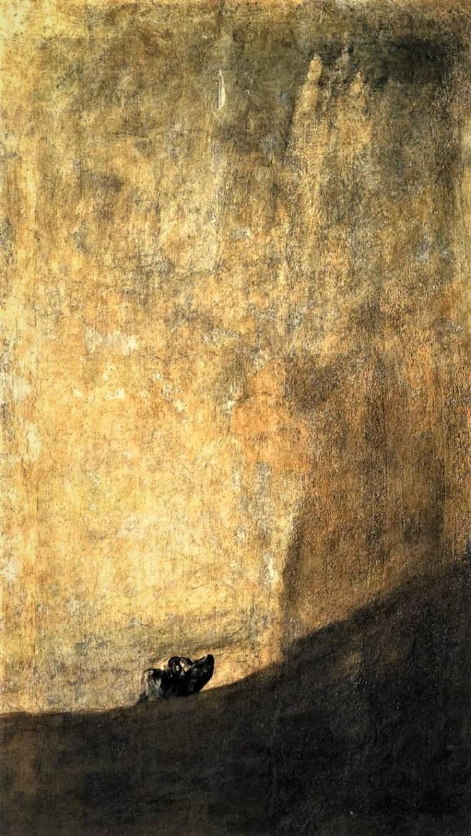 """""""Perro medio hundido"""" F. Goya"""