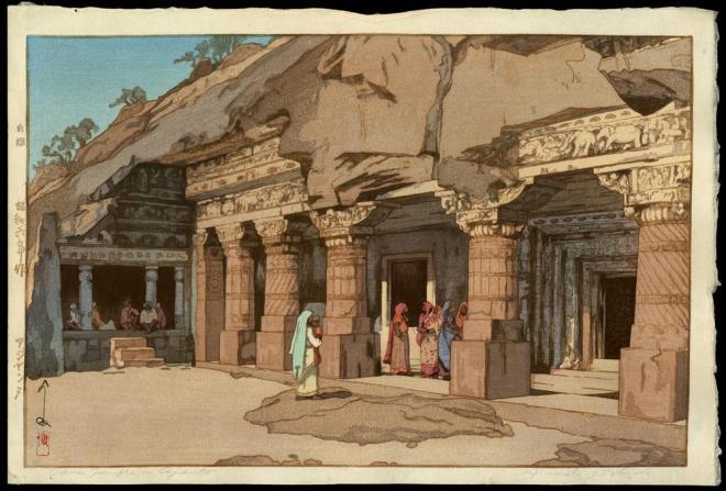 Hiroshi Yoshida - Cave Temple in Ajanta.jpg